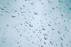 Water Droplets on a Window Royalty Free Stock Images