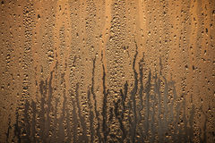Water droplets in a window Royalty Free Stock Photos
