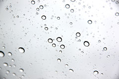 Water droplets on Windshield Car. Stock Photos