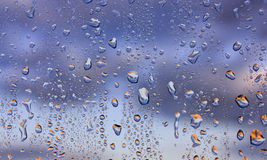 Water drops. Water droplets on a window Royalty Free Stock Images