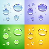 Water drops. Background, colored in blue, green and gold Royalty Free Stock Images