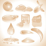 Water drops. Stylized Water drops (vector will be additional royalty free illustration