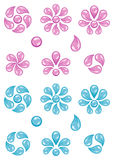 Water drops. On a white background royalty free illustration