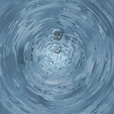 Water Drops. Liquid water drops falling into water hole stock illustration