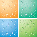 Water drops. The vector background with a water  drops Stock Image