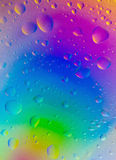 Colorful Water drop background Stock Photos