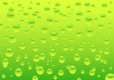 Water drops. Illustration of green water drops stock illustration