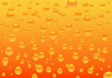 Water drops. Illustration of orange water drops royalty free illustration
