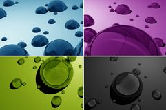 Water Drops 3D Stock Photo