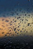 Water drops. Water droplets on a window Royalty Free Stock Photo