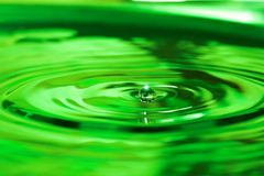 Water drops. Green water drops Stock Images