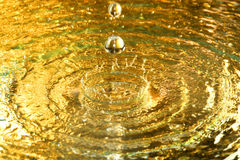 Water drops. A various color drops of the liquid cold water Royalty Free Stock Images