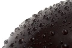 Water drops. On aubergine's surface Stock Photography