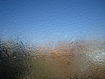 Water drops. Drops of water on window glass Royalty Free Stock Photography