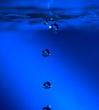 Water drops. Blue water drops Royalty Free Stock Photo