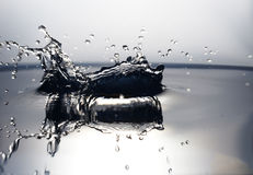 Water drops. Photos of falling drops of water photographed in a super-speed mode Royalty Free Stock Images