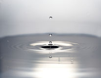 Water drops. Photos of falling drops of water photographed in a super-speed mode Stock Photos