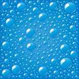 Water drops. Vector illustration of water droplets on blue background Royalty Free Stock Photo