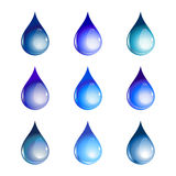 Water drops. Vector illustration of the beautiful decoration water drops set Royalty Free Stock Image