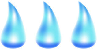 Water drops. Vector illustration. Mesh are used Stock Images