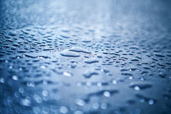 Water drops. On abstract background Stock Photography