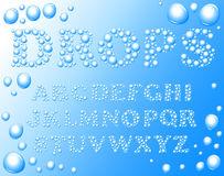 Water drops alphabet Stock Image