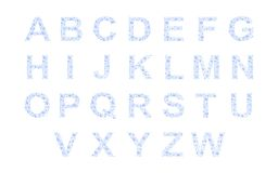 Water drops alphabet - cdr format Stock Photography