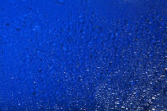 Water drops background. Blue background with water drops Royalty Free Stock Images