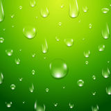 Water drops background. Fresh aqua or healthy clean natural concept with water drops Stock Images