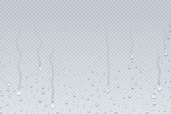 Free Water Drops Background. Shower Steam Condensation Drips On Transparent Glass, Rain Drops On Window. Vector Realistic Stock Image - 146066211