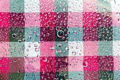 Water Drops Background. Water Drops. Water Drops of Square Colorful Pattern Background Stock Photography