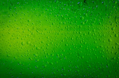 Water drops on a beer glass bottle Royalty Free Stock Photography