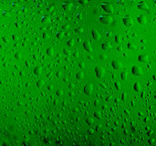 Water drops on a beer glass bottle Royalty Free Stock Images