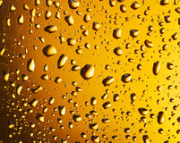 Water drops on a beer glass. Royalty Free Stock Images
