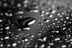 Water drops on black Royalty Free Stock Image