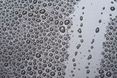 Water drops on black surface Royalty Free Stock Photography