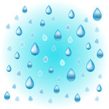Water drops on the blue background royalty free stock images