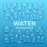 Water drops on blue background. Vector illustration Royalty Free Stock Image