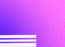 Water drops on blue and pink  background Stock Photography