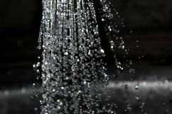 Water drops with blur stock photography