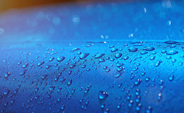 Water drops on car metal paint Royalty Free Stock Photo