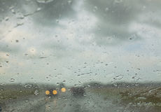Water drops on a car window Stock Image