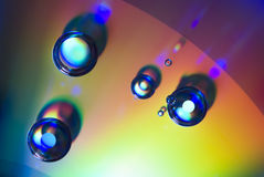 Water Drops on a CD Stock Image