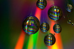 Water drops on CD Royalty Free Stock Photo