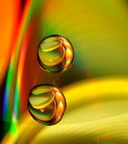 Water drops on CD Stock Photography