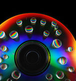 Water drops on a CD Stock Photo
