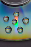 Water drops on cd Stock Image