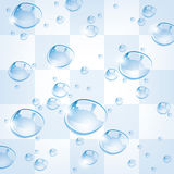 Water drops, vector  Royalty Free Stock Image
