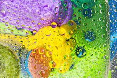 Water drops of colorful background Stock Photo