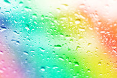Water drops on colorful Stock Photo